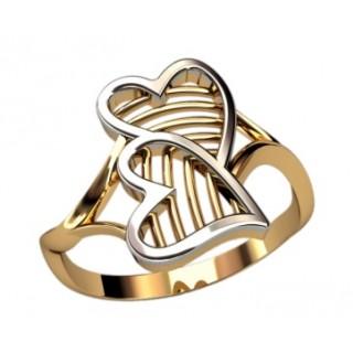 Кольцо с сердечками (10296)