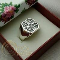 Кольцо мужское крест