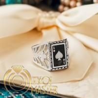 Мужское кольцо с эмалью