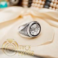 Мужское серебряное кольцо Футбольный мяч