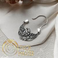 Священная птица Радогоста - мужская серьга