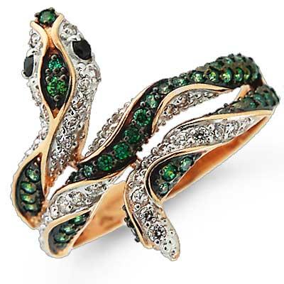 купить серебряное кольцо в виде змеи