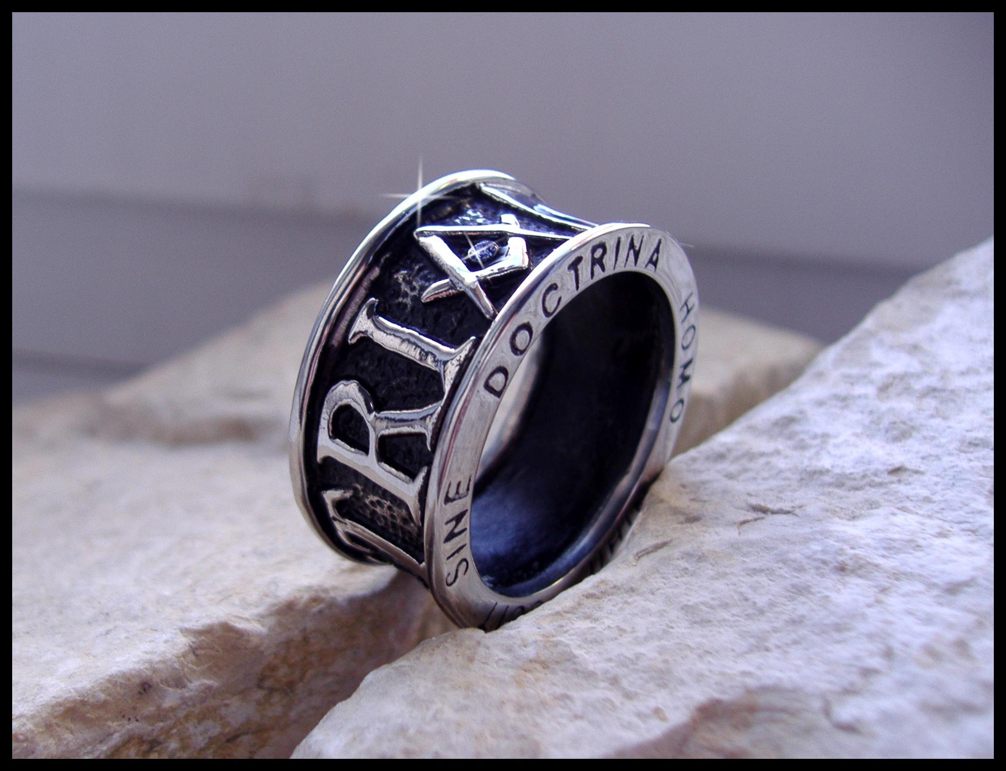 """Масонский перстень """"Геометрия"""""""