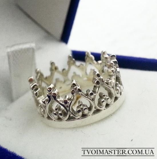 Кольцо корона высокая