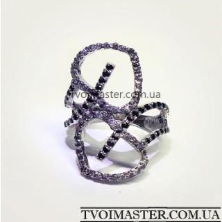 Кольцо с двумя сердцами