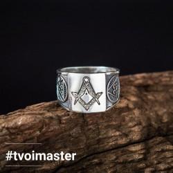 Масонское кольцо 33 градус серебро