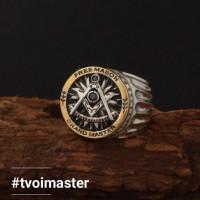 Серебряное масонское кольцо Великий Мастер