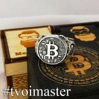 Мужская печатка Bitcoin
