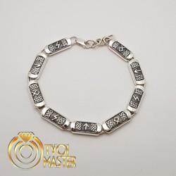 Серебряный браслет с рунами (Соулу, Тэйвас, Отал)