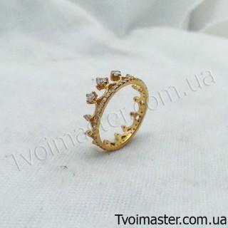 Кольцо Корона с позолотой