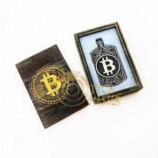 Кулон Bitcoin серебро